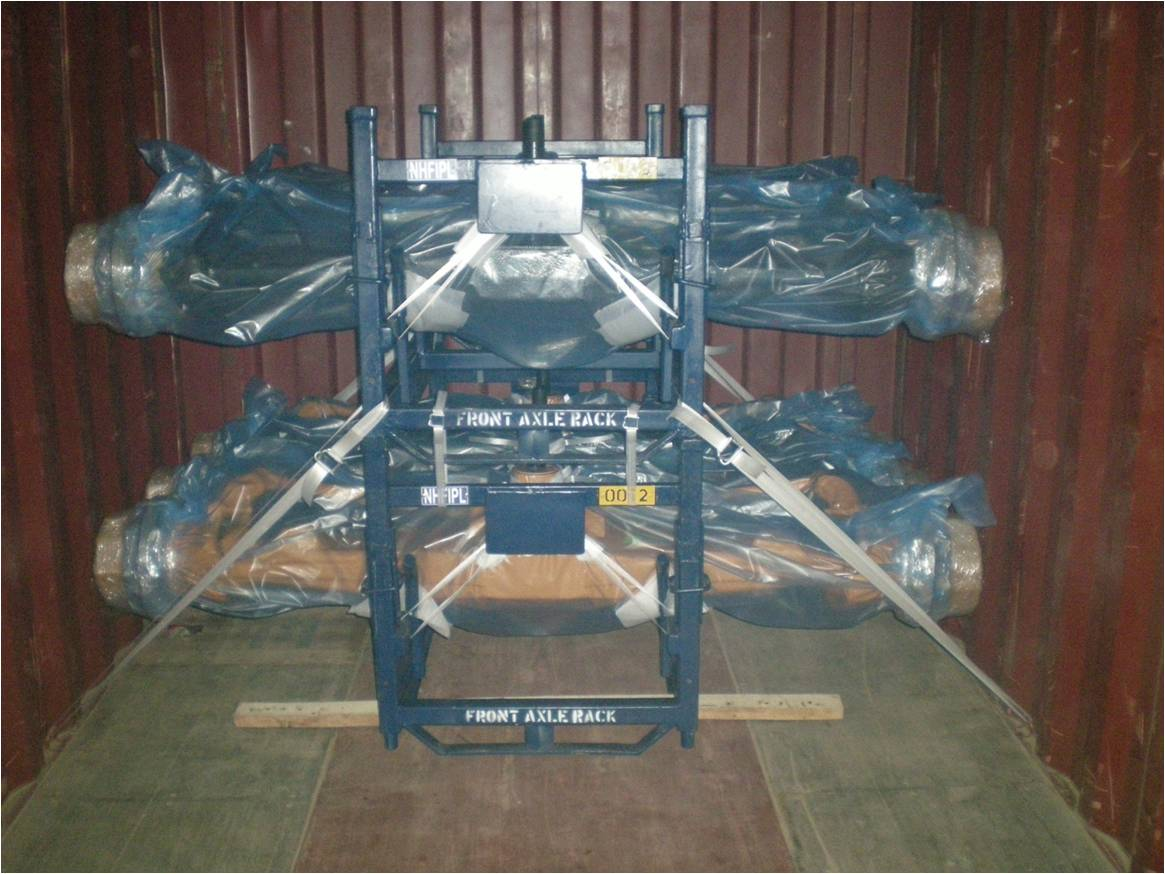 reusable axle packing on metal frames